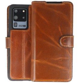 BAOHU Handmade Leer Telefoonhoesje Samsung Galaxy S20 Ultra Bruin