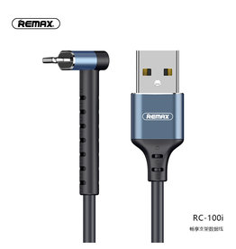 REMAX RC-100i USB Kabel met Staande Functie voor iPhone Zwart