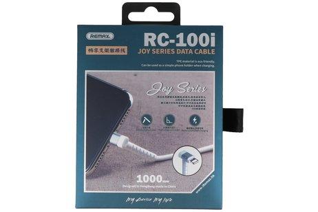 REMAX RC-100i USB Kabel met Staande Functie voor iPhone Wit