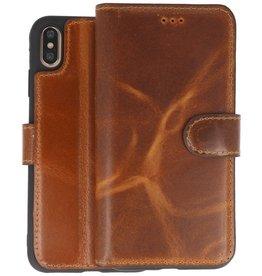 BAOHU Handmade Leer Telefoonhoesje iPhone Xs Max Bruin