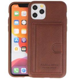 PULOKA Backcover Hardcase Hoesje iPhone 11 Pro - Bruin