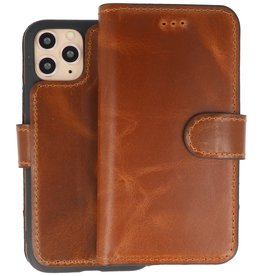 BAOHU Handmade Leer Telefoonhoesje iPhone 11 Pro - Bruin