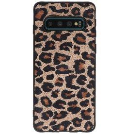 GALATA Luipaard Leer Hoesje Back Cover Samsung Galaxy S10