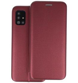 Slim Folio Telefoonhoesje Samsung Galaxy A51 - Bordeaux Rood