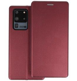Slim Folio Telefoonhoesje Samsung Galaxy S20 Ultra - Bordeaux Rood