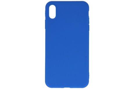 Premium Color Bescherming Telefoonhoesje voor iPhone Xs Max - Blauw