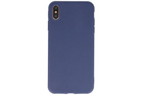 Premium Color Bescherming Telefoonhoesje voor iPhone Xs Max - Navy