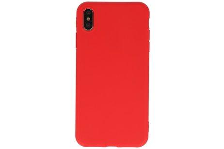 Premium Color Bescherming Telefoonhoesje voor iPhone Xs Max - Rood