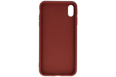 Premium Color Bescherming Telefoonhoesje voor iPhone Xs Max - Bruin