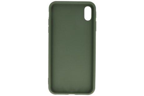 Premium Color Bescherming Telefoonhoesje voor iPhone Xs Max - Donker Groen