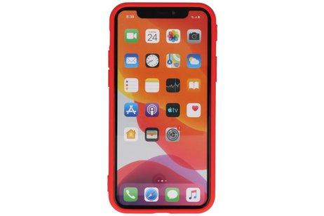 Premium Color Bescherming Telefoonhoesje voor iPhone 11 Pro - Rood