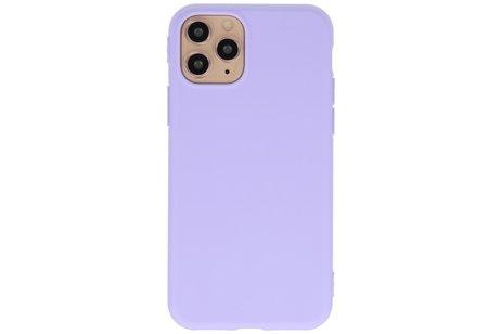 Premium Color Bescherming Telefoonhoesje voor iPhone 11 Pro - Paars
