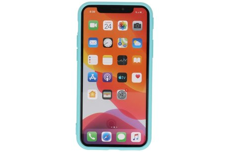 Premium Color Bescherming Telefoonhoesje voor iPhone 11 Pro - Turquoise