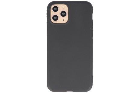 Premium Color Bescherming Telefoonhoesje voor iPhone 11 Pro Max - Zwart