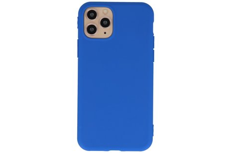 Premium Color Bescherming Telefoonhoesje voor iPhone 11 Pro Max - Blauw