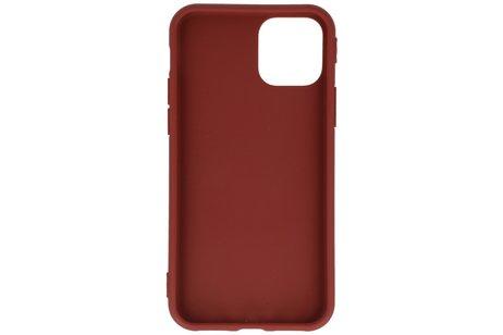 Premium Color Bescherming Telefoonhoesje voor iPhone 11 Pro Max - Bruin