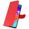 Samsung Galaxy A11 Hoesje Kaarthouder Book Case Telefoonhoesje Rood