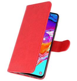 Samsung Galaxy A21 Hoesje Kaarthouder Book Case Telefoonhoesje Rood