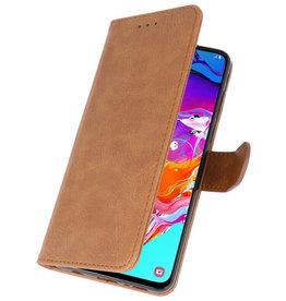 Samsung Galaxy A21 Hoesje Kaarthouder Book Case Telefoonhoesje Bruin