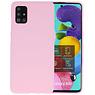Color Bescherming Telefoonhoesje Samsung Galaxy A51 - Roze