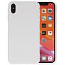 Premium Color Bescherming Telefoonhoesje iPhone XS / X - Wit