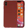 Premium Color Bescherming Telefoonhoesje iPhone XS / X - Bruin