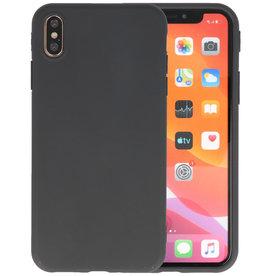 Premium Color Bescherming Telefoonhoesje iPhone Xs Max - Zwart