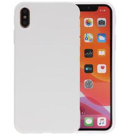 Premium Color Bescherming Telefoonhoesje iPhone Xs Max - Wit