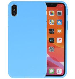 Premium Color Bescherming Telefoonhoesje iPhone Xs Max - Licht Blauw