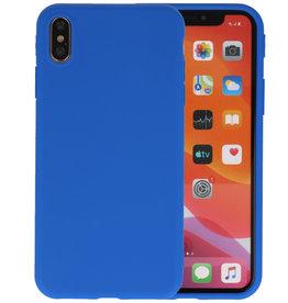 Premium Color Bescherming Telefoonhoesje iPhone Xs Max - Blauw