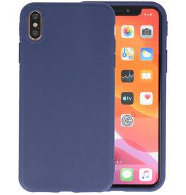 Premium Color Bescherming Telefoonhoesje iPhone Xs Max - Navy