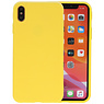 Premium Color Bescherming Telefoonhoesje iPhone Xs Max - Geel