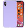 Premium Color Bescherming Telefoonhoesje iPhone Xs Max - Paars
