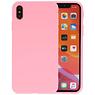 Premium Color Bescherming Telefoonhoesje iPhone Xs Max - Roze