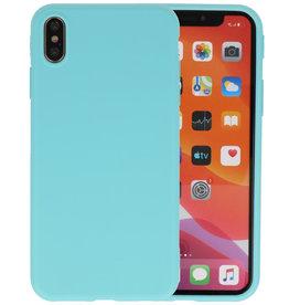 Premium Color Bescherming Telefoonhoesje iPhone Xs Max - Turquoise