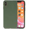 Premium Color Bescherming Telefoonhoesje iPhone Xs Max - Donker Groen