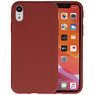 Premium Color Bescherming Telefoonhoesje iPhone XR - Bruin