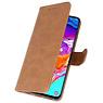 Samsung Galaxy A21s Hoesje Kaarthouder Book Case Telefoonhoesje Bruin