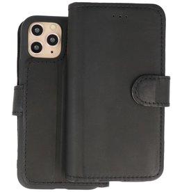 BAOHU Handmade Leer Telefoonhoesje iPhone 11 Pro - Zwart