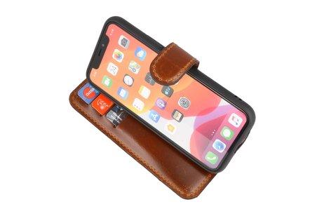 BAOHU Handmade Leer Telefoonhoesje voor iPhone 11 Pro Max - Bruin