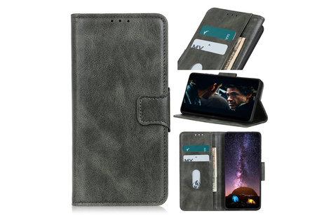 Zakelijke Book Case Telefoonhoesje voor Samsung Galaxy A41 - Donker Groen