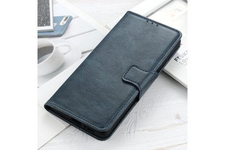 Zakelijke Book Case Telefoonhoesje voor Samsung Galaxy S20 - Blauw