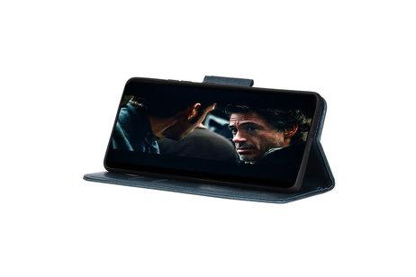 Zakelijke Book Case Telefoonhoesje voor Samsung Galaxy S20 Plus - Blauw