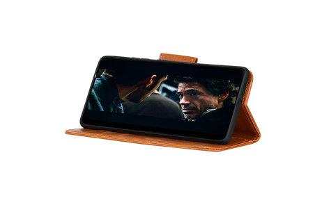Zakelijke Book Case Telefoonhoesje voor Samsung Galaxy S20 Plus -  Bruin
