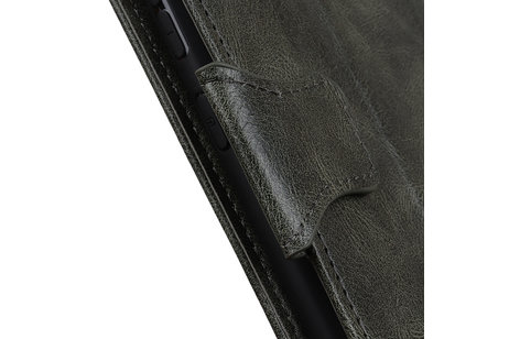 Zakelijke Book Case Telefoonhoesje voor Samsung Galaxy S20 Plus - Donker Groen
