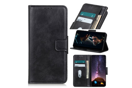 Zakelijke Book Case Telefoonhoesje voor Samsung Galaxy S20 Ultra - Zwart