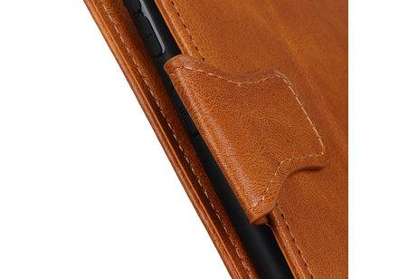 Zakelijke Book Case Telefoonhoesje voor Samsung Galaxy S20 Ultra - Bruin