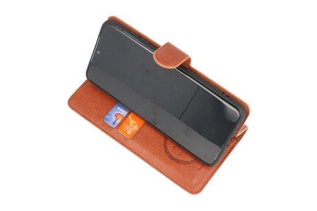 KAIYUE - Luxe Portemonnee Hoesje voor Samsung Galaxy S10 Lite - Bruin