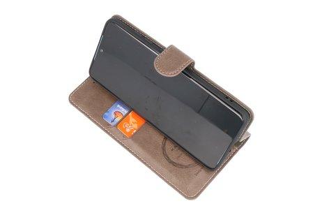 KAIYUE - Luxe Portemonnee Hoesje voor Samsung Galaxy S10 Lite - Grijs