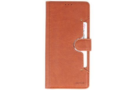 KAIYUE - Luxe Portemonnee Hoesje voor Samsung Galaxy Note 10 Lite - Bruin